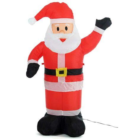 Decorazioni Natalizie Gonfiabili.Gonfiabile Babbo Natale Grande Altezza 120 Cm Con Illuminazione Led