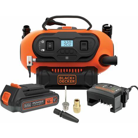 Gonfleur-Compresseur filaire ou sans fil 11 BARS/ 160 PSI (sans batterie) BLACK+DECKER BDCINF18N-QS