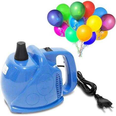 Gonfleur de pompe à ballon électrique pour décoration de fête d'anniversaire de mariage de fête (300 W bleu)