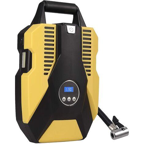 Gonfleur Pneus Voiture Portatif Compresseur d'air Numérique Electrique avec LED, et Un Tube Gonflable 50cm, Moto, Bicyclette