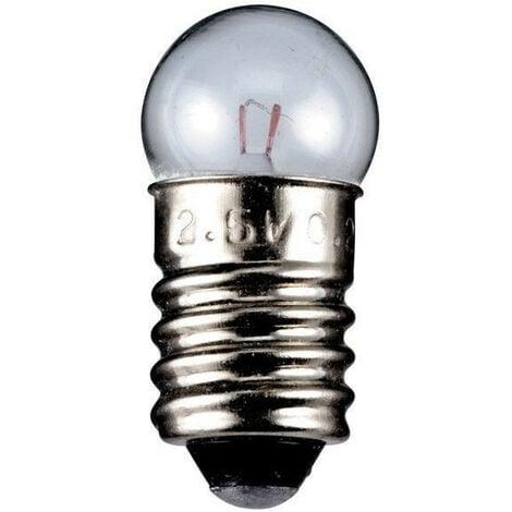 goobay Ampoule sphérique E10, 3,5 V, 0,70 W, transparente (9323)