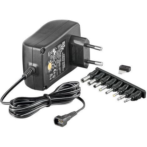Goobay Bloc d'alimentation réglable 8 adaptateurs CC + USB inclus - réglable de 5 à 15V - 3000 mA