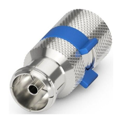 goobay Easy-Installation IEC/Koax-Buchse, silber/blau, 6,5 - 8,0 mm