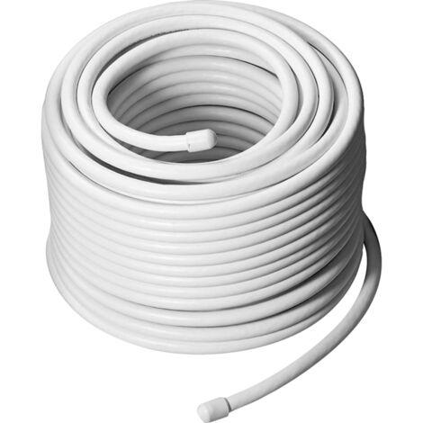goobay Koaxialkabel 68-100dB, Kabel, weiß, 25 Meter