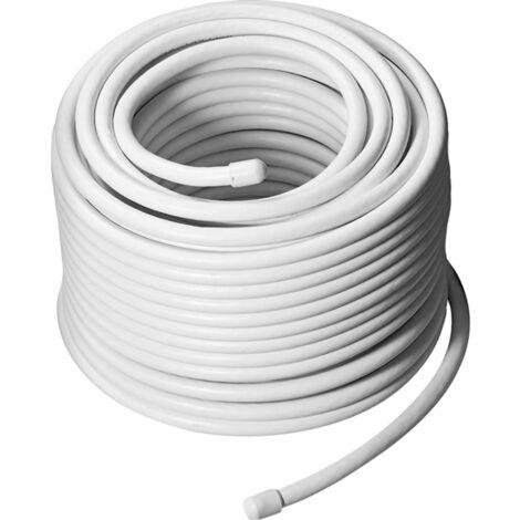goobay Koaxialkabel 68-100dB, weiß, 50 Meter