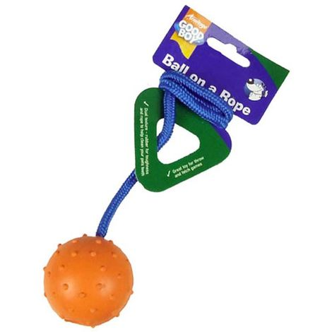 Good Boy Ball On A Rope Dog Toy (One Size) (Multi-Colour)