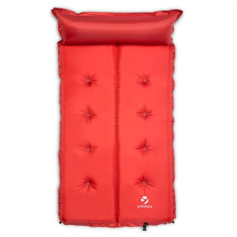 """main image of """"Goodbreak 10 Sleeping Mattress Double Airbed 10cm Thick Pillow Red"""""""