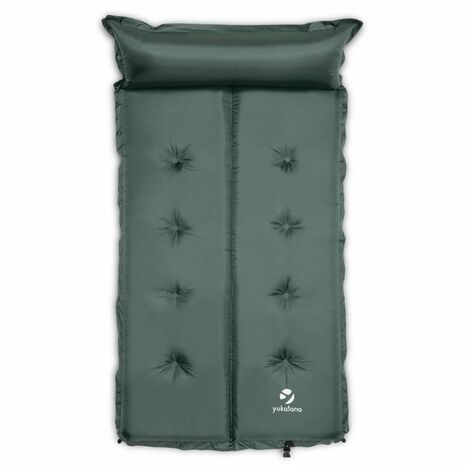"""main image of """"Goodbreak 5 Sleeping Mattress Double Airbed 5cm Thick Pillow Green"""""""