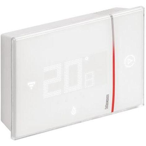GOOGLE HOME ET AMAZON ALEXA ALEXA X8000W COMPATIBLE THERMOSTAT MURAL WIFI. ***smarther est le thermostat connecte' avec wi-fi inte'gre' a' utiliser en combinaison avec le Thermostat APP de'die', qui permet d'effectuer toute la programmation et la plupart