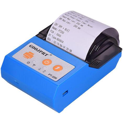 GOOJPRT, BT portatil inalambrico 58mm impresora de recibos termica, Bill personal impresora