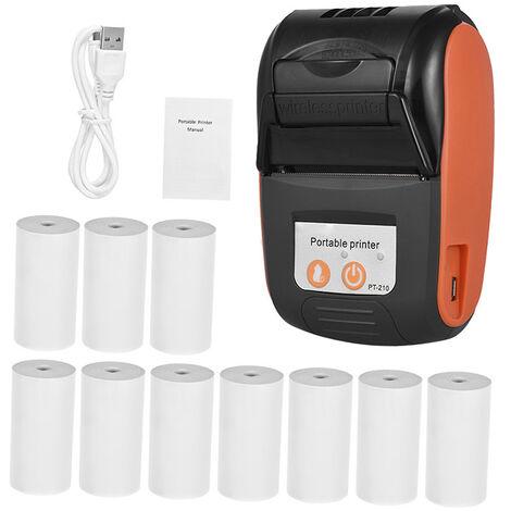 GOOJPRT, Impresora termica, Impresora de recibos de 58 mm, con 10 rollos de papel, naranja