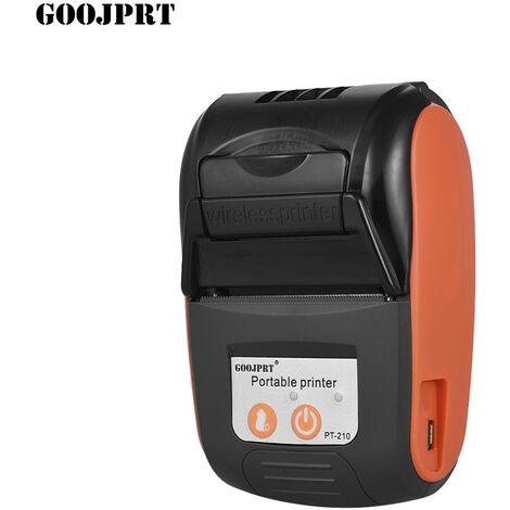 GOOJPRT, Impresora termica portatil, Impresora de recibos de 58 mm,Naranja