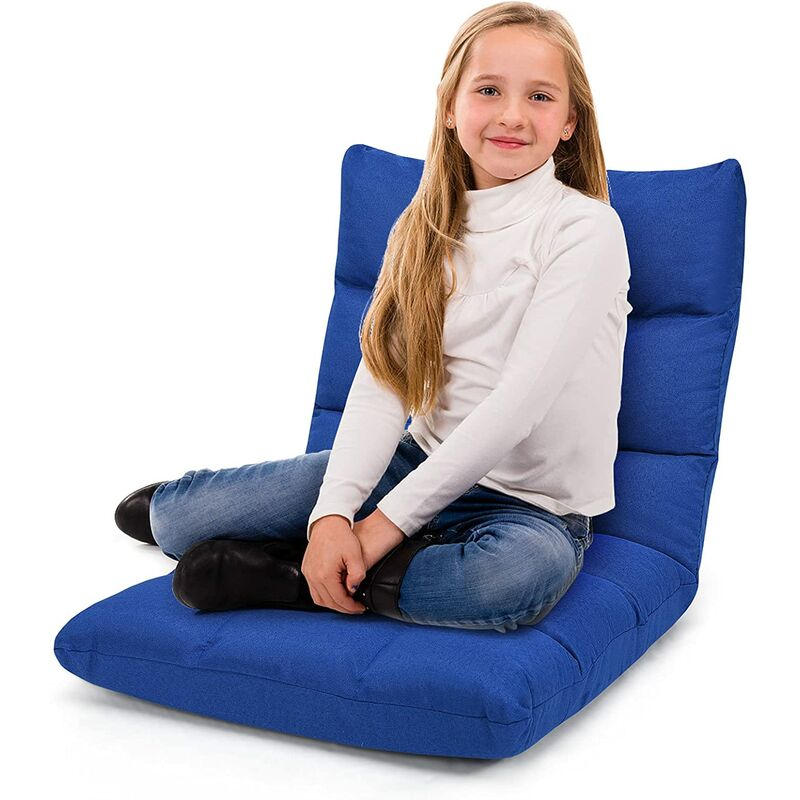 Chaise de Méditation,Canapé-Lit Pliable avec 14 Positions Réglables,Canapé Paresseux Tatami Pliable,Chaise de Plancher Coussin de Chaise de Lit,Siège
