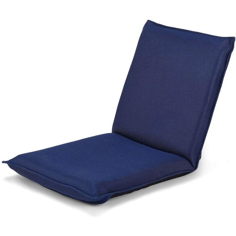 Chaise de Sol Pliante avec 6 Positions Réglables, Canapé Paresseux Inclinable Rembourré d'?ponge, Chaise de Plancher Pliable pour Maison, Bureau,