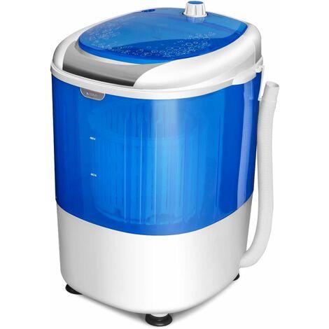 """main image of """"GOPLUS Mini Machine à Laver avec Essorage, Lave-linge Semi-automatique Compact et Portable, 10 Minutes Lavage Rapide, Capacité de Lavage 2,5KG, pour Appartement et Dortoir, 36 x 34 x 51CM, Bleu"""""""