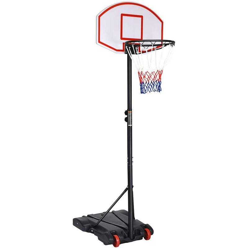 GOPLUS Panier de Basket Réglable en Hauteur de 179cm à 200 cm Noir Panier de Basket Ball pour Enfants et Adultes