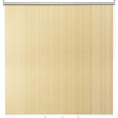 GOPLUS Store Occultant 181 x 181cm, Semi-Obscure Isolant Thermique Anti-UV, avec Chaîne à Perles Glisse, en HDPE et Aluminium, pour Cuisine, Chambre, Nettoyage Facile (Beige, 181 x 181cm)