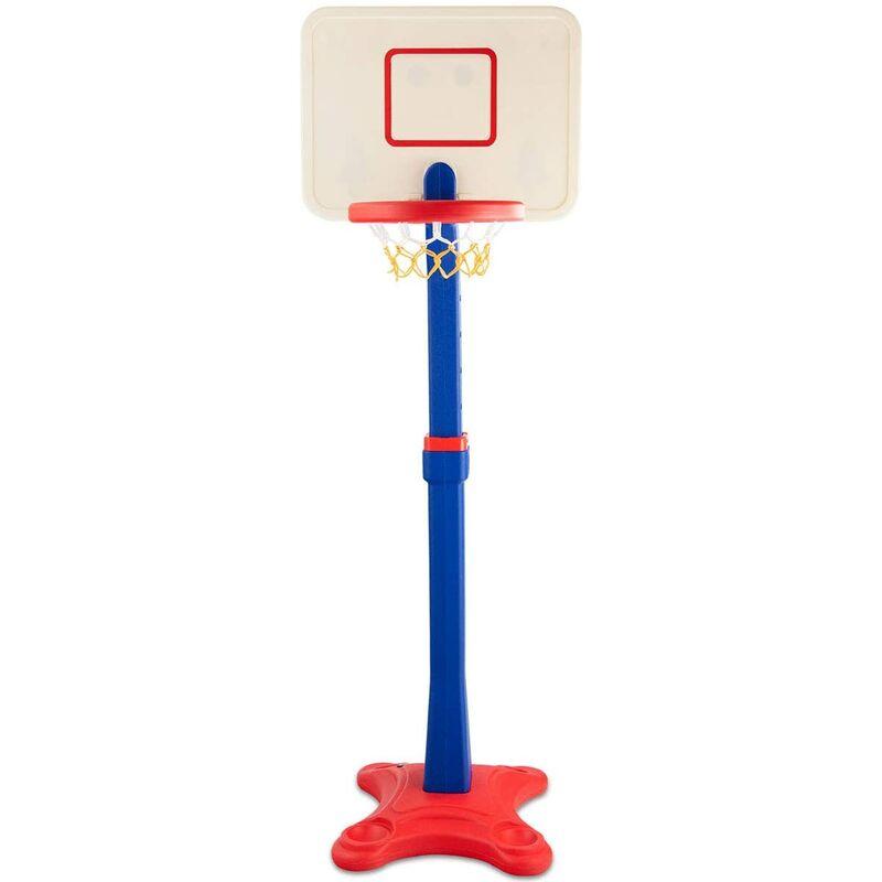 GOPLUS Support de Cerceau de Basketballe pour Enfant Réglable en Hauteur, Support de Panier de Basket Monyen pour Intérieur et Extérieur, Convient