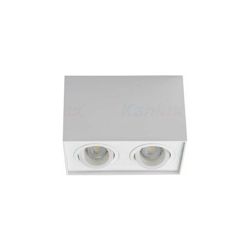 faretto da soffitto 2 luci 220-240 volt CE GU10 IP20 bianco interno orientabile kan 25473