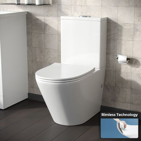 Gordonia Cloakroom Rimless Close Coupled WC Toilet