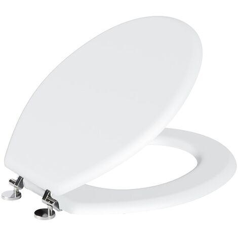 Gorge Classic Design Oval Shaped White Toilet Seat Including Fittings