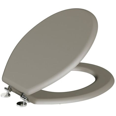 Gorge Classic Oval Shaped Stone Grey Toilet Seat