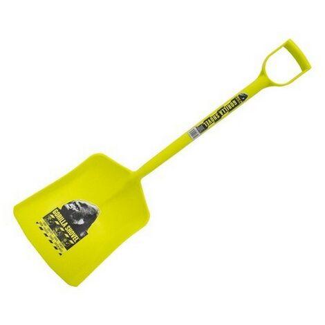 Gorilla (119/1PPY) Polypropylene Shovel Long D Handle Yellow
