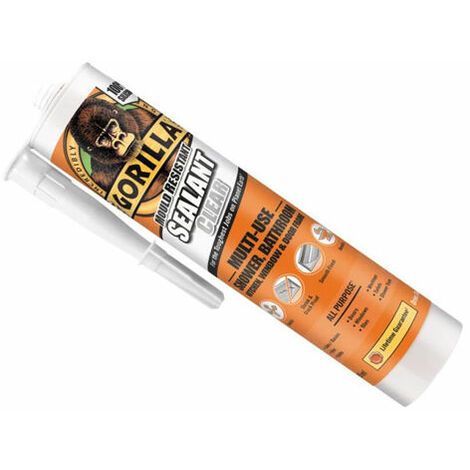 Gorilla Glue 1144100 Gorilla Mould Resistant Sealant Clear 295ml