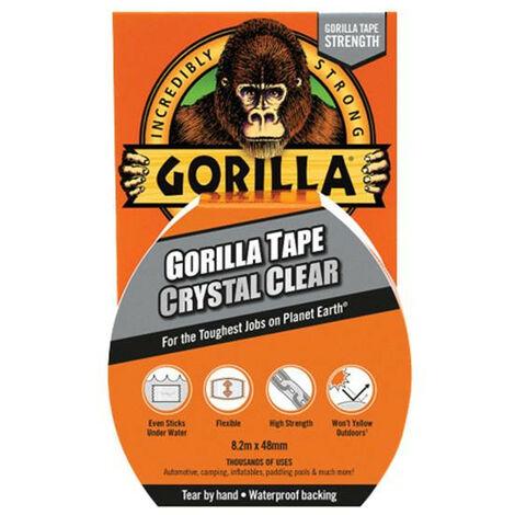 Gorilla Glue GRGCLTAPE48 Gorilla Tape Crystal Clear 48mm x 8.2m