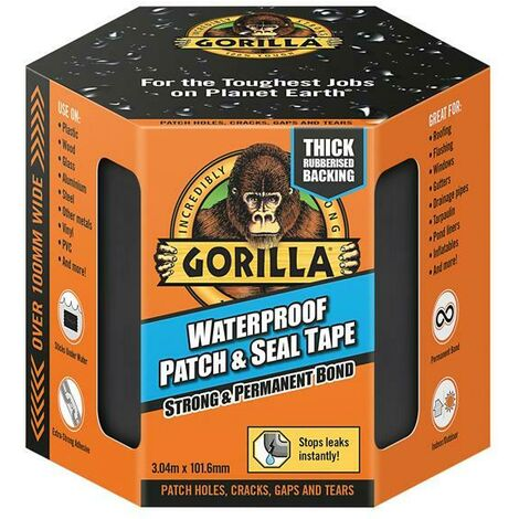 Gorilla Glue GRGPST3 Waterproof Patch & Seal Tape 101.6mm x 3.04m