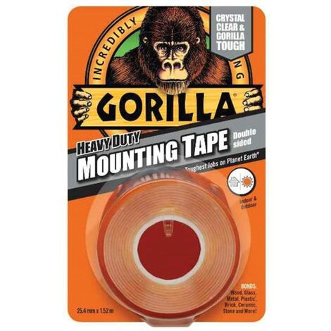 Gorilla Gorilla Mounting Tape Heavy Duty Clear 25mmx1.5M