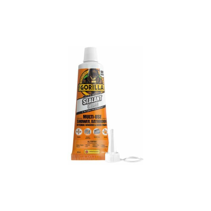 Image of Gorilla Mould Resistant Sealant Clear Tube 80ml ( SEALCL80) - GRG