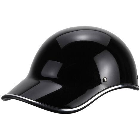 Gorra de beisbol casco de la motocicleta de la bici del casco de ciclista Medio casco Hombres Mujeres jovenes, Negro