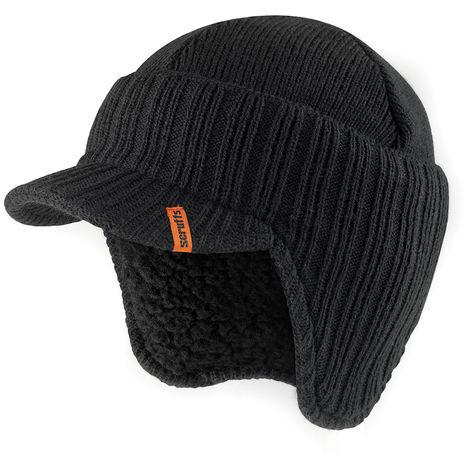 Gorra de lana con orejeras, color negro Talla única - NEOFERR