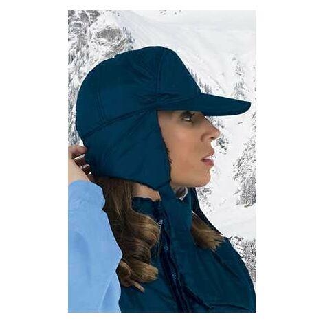 Gorra invierno de abrigo hidrofugada con polar (ref. MOUNT) | Azul marino