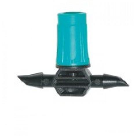 Gotero Micro Riego 4Mm Ajustable Natuur Negro/Verde Nt104454 10 Pz