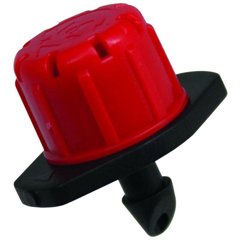 Gotero regulable 0-70 l//h rojo Aqua Control 100 ud