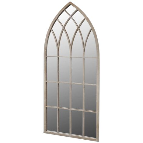 Gothic Arch Garden Mirror 50x115 cm for Indoor and Outdoor Use