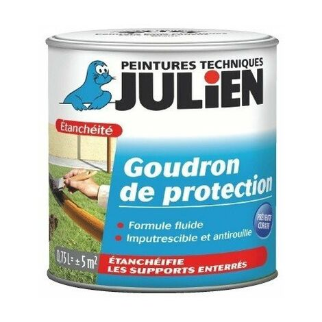 Goudron de protection noir bidon 750 ml - JULIEN