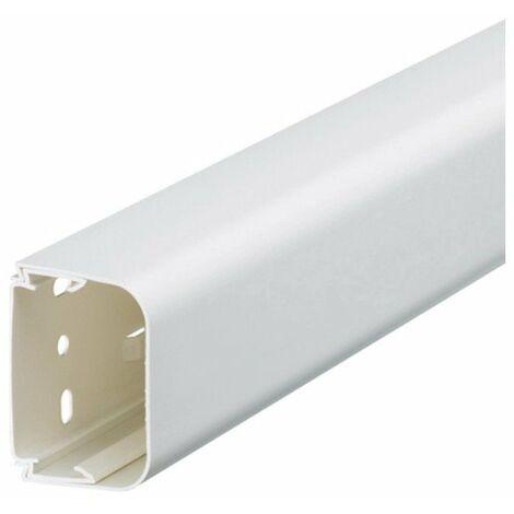 Goulotte 75x125 - Pour climatisation et pompe à chaleur - Blanc