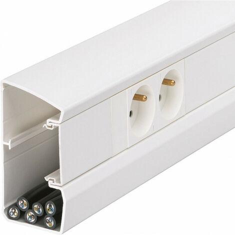 Goulotte appareillable queraz enclipsage direct 105x54mm PVC blanc (GBD5010009010)