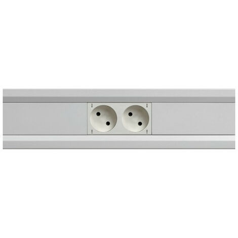 Goulotte appareillable queraz enclipsage direct 54x54mm PVC blanc (GBD5005009010)