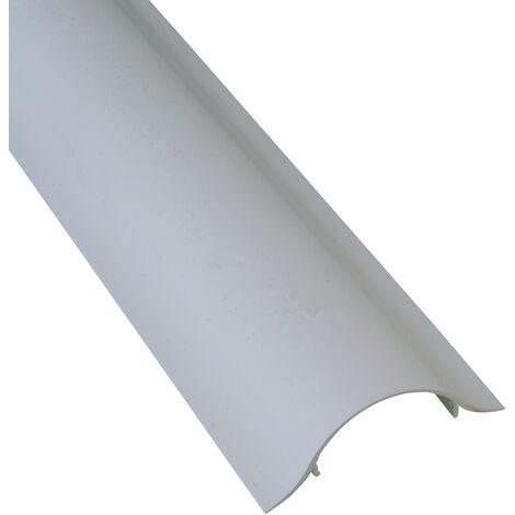 Goulotte cache-câble Kopp - pour montage sur TV Blanc plat 100cm