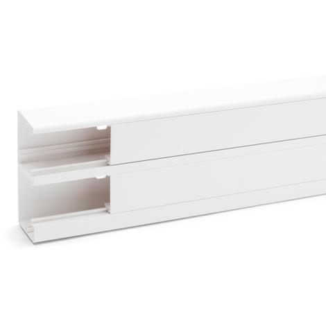 Goulotte clidi 130X55 2000mm - Rehau Equipement - Blanc