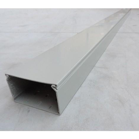 Goulotte de cablage grise paroi pleine 60X100mm (au métre) fond pré-perforé avec couvercle SCHNEIDER 3916200