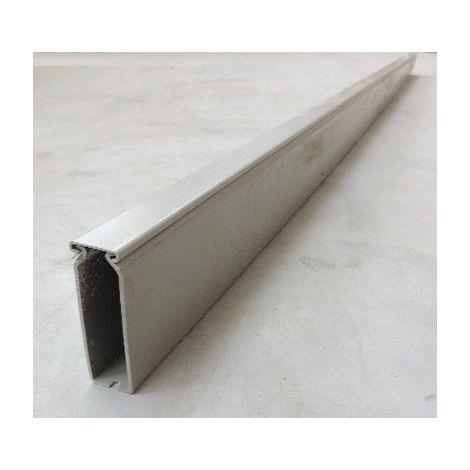 Goulotte de cablage grise paroi pleine 80X25mm (au métre) fond pré-perforé avec couvercle SCHNEIDER 3916220
