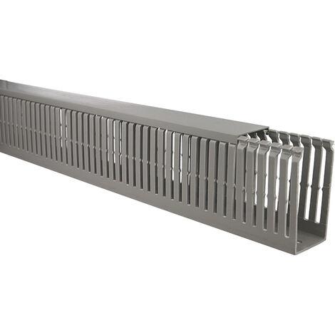 Goulotte de câblage PVC à lamelles 40x80mm - 1 mètre