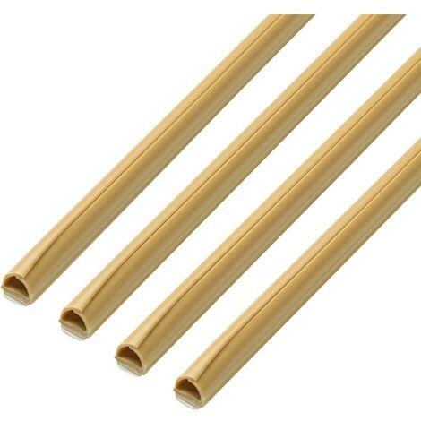 Goulotte de câble cablefix 160694 160694 (L x l x H) 6 x 5 x 1000 mm 1 set beige