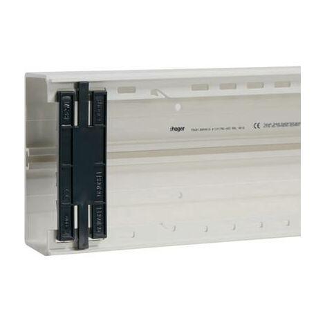 Goulotte de câble Hager FB6013029010 gaine technique pour installations électriques (L x l) 2000 mm x 130 mm 1 pc(s)