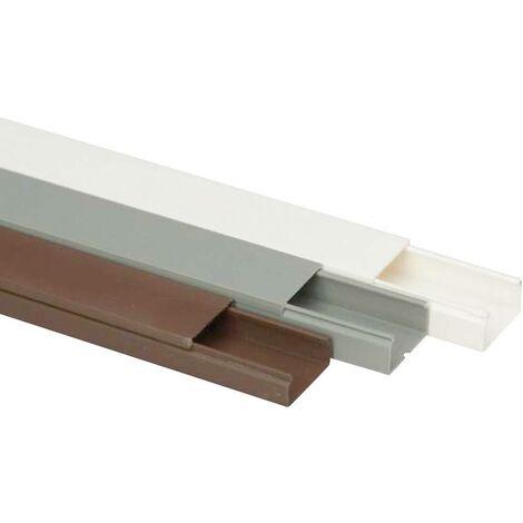 Goulotte de câble Heidemann 09954 (L x l x h) 2000 x 30 x 15 mm 1 pc(s) marron